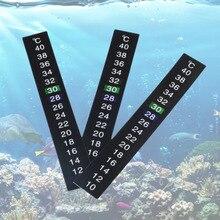 1 pcs /lot Stick-on Digital Aquarium Fish Tank Fridge Thermometer Sticker Temperature Temp Measurement Stickers Tools