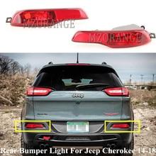 Mzorange amortecedor traseiro luz para jeep cherokee 2014 2015 2016 2017 2018 refletor traseiro da lâmpada luz de nevoeiro cauda acessórios do carro