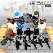 Legoing Militaire Swat Wapens Bouwstenen Guns Pack City Politie Soldaat Serie WW2 Leger Accessoires Moc Bricks Speelgoed Legoings(China)
