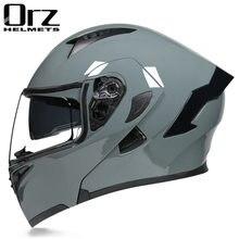 2020 mais recente capacete da motocicleta dot aprovado segurança modular flip voyage racing lente dupla capacete viseira interior