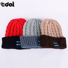 18 EDAL Wireless Bluetooth Smart Cap Soft Warm Beanie Hat Headphone Headset Speaker Mic Hot 3 Colors(China)