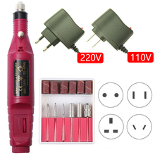цена на 1 Set Professional Electric Nail Drill Machine Kit Manicure Machine Nail Art Pen Pedicure Gel Nail File Portable Nail Art Tools