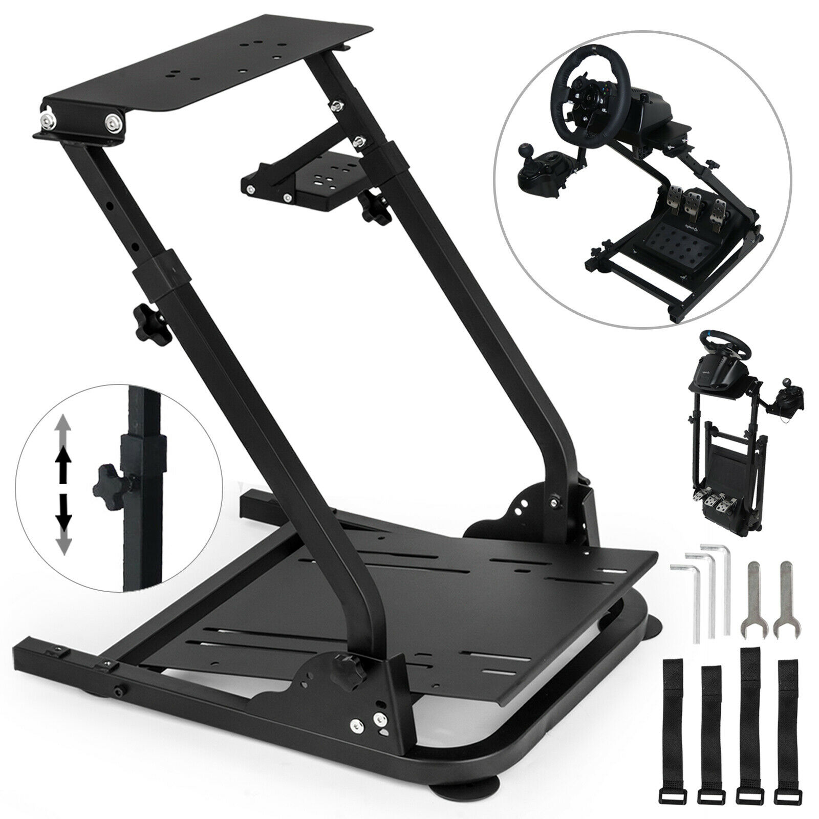 Vevor Racing Simulator Steering Wheel Stand For G920 Gear Shifter