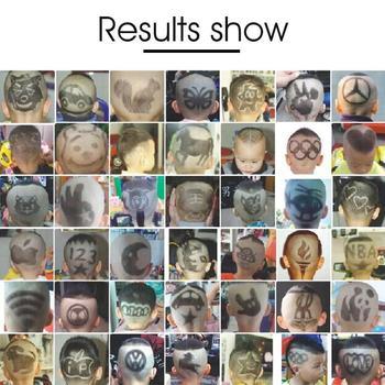 Wielofunkcyjny szablon do tatuażu włosów szablon do stylizacji włosów zestaw do stylizacji włosów ścinanie włosów zestaw do stylizacji fryzur tanie i dobre opinie Suitable for everyone 9 colors Plastic 309126 certain elasticity for better shaping