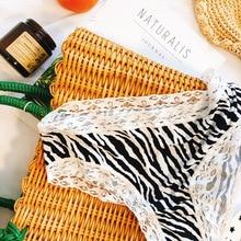 Women's Underwear Panties Briefs Sexy Lingerie Lace Traceless Silk Leopard Stripes Cotton