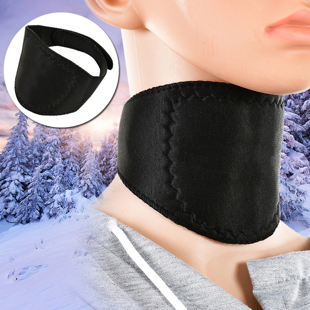 1 PCS Supports Tourmaline Belt Therapy Spontaneous Heating Headache Massager Guard Protector Soft Black Magnetic Neck Braces 5