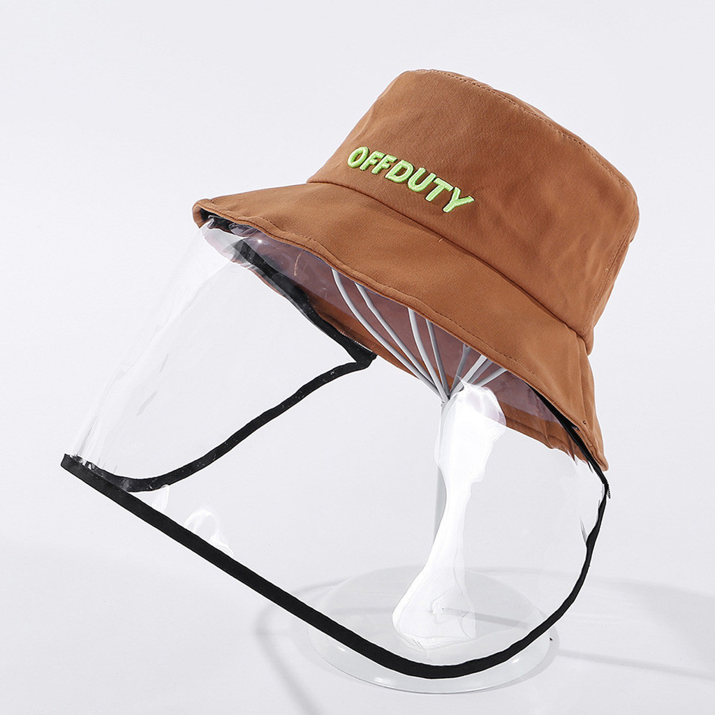 Women Lady Anti-spitting Protective Hat Coronary Virus Protective Hat Dustproof Cover Adult Fisherman Cap Hat #C