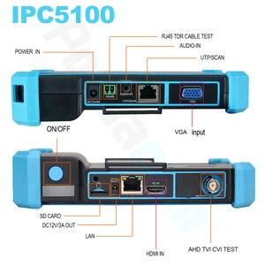 Image 5 - HIKVISION probador de Red HD coaxial CCTV, monitor IPC5000 PLUS, Dahua, herramienta de prueba, cable de red TDR, prueba WIFI, POE