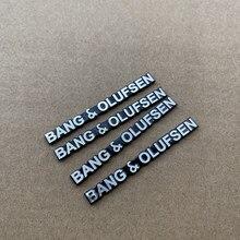 4 pçs 50x5.3cm b & o alto-falante adesivo de alumínio estilo do carro estéreo orador bo emblema emblema adesivo carro accessorie bang & olufsen
