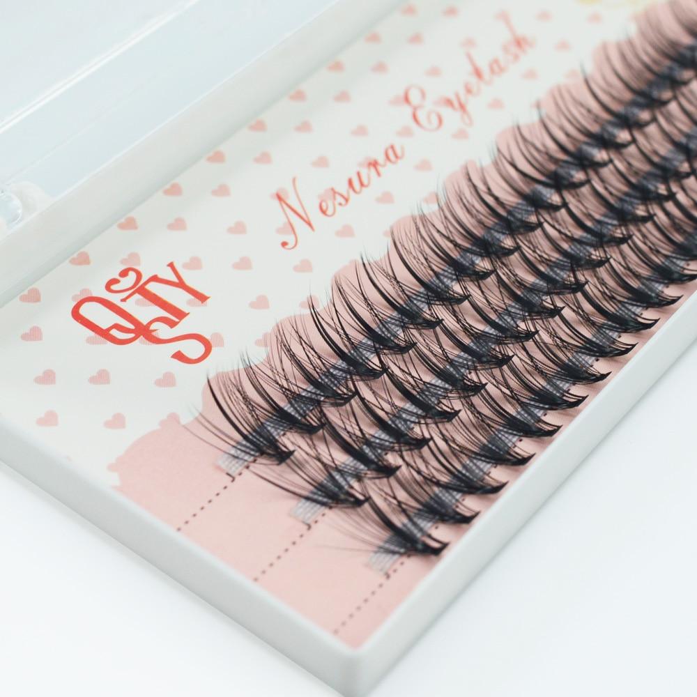 QSTY Mink Lashes 8/9/10/11/12 All Size 10D/20D Individual False Mink Eyelash Extension 60 Bundles Full Strip Lashes Makeup