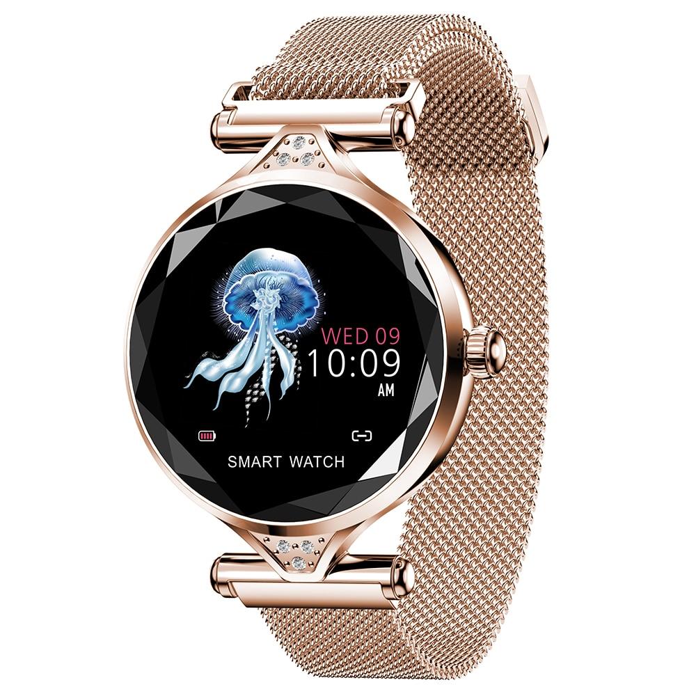 Смарт-браслет H1 женский с тонометром, пульсометром и шагомером, фитнес-Смарт-часы для женщин, подарок на день Святого Валентина, распродажа