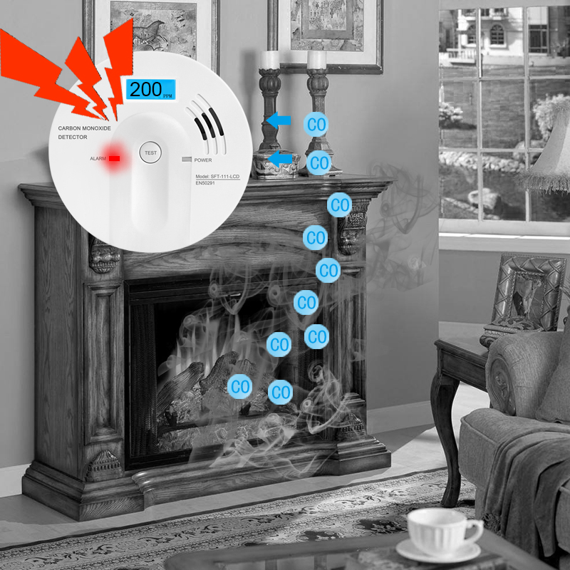 Bayroon Co Sensor Carbon Monoxide Detector High Sensitive Sensor LCD Screen 85db Warning Alarm Upgrade 7 Yeas Lifetime Guarantee