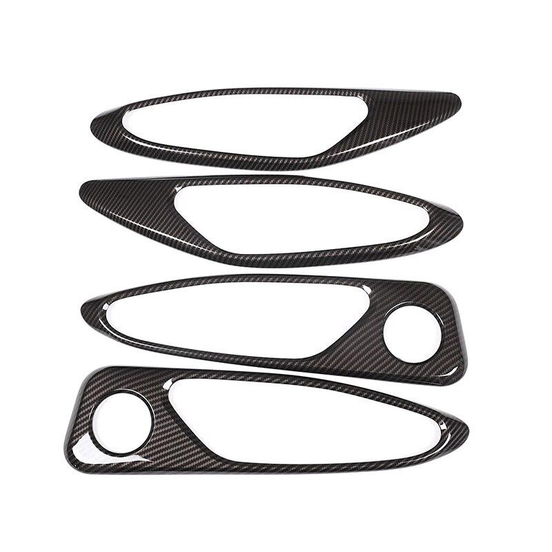 4Pcs Carbon Fiber Style Abs Plastic For Alfa Romeo Giulia 2017 2018 Car Chrome Interior Door Handle Frame Cover Trim Accessories|Interior Door Handles| |  - title=