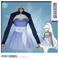 Anime Season 4 Weiss Schnee Graduated Printed Dress Cosplay Costume Women Lovely Uniform H