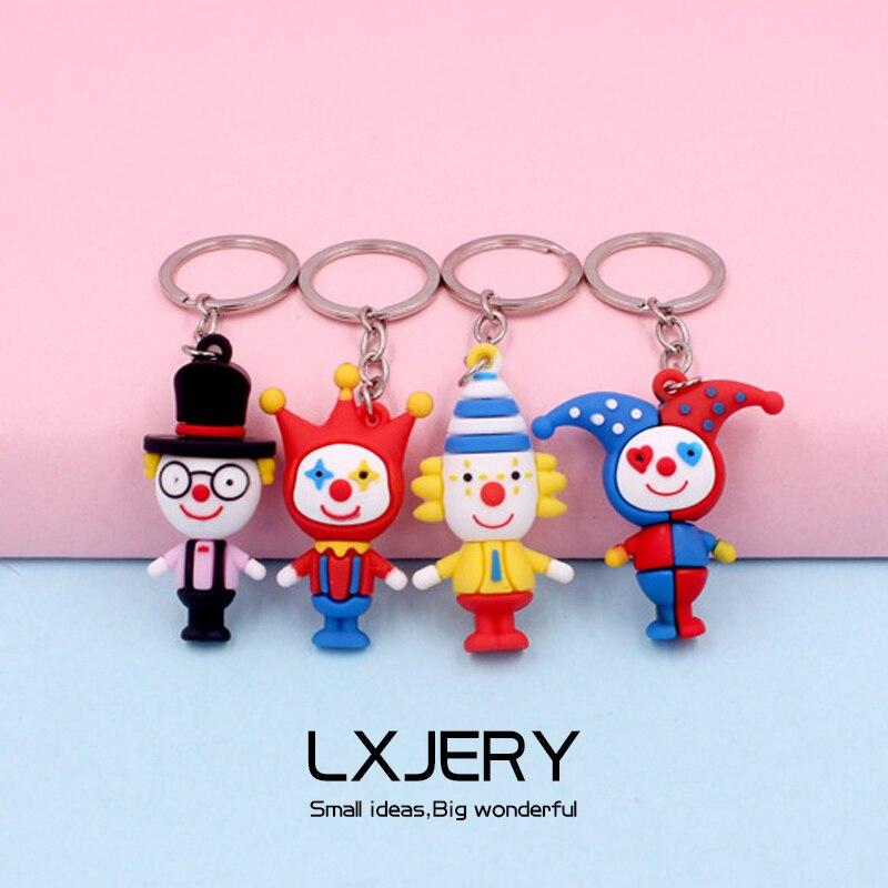 Милые брелоки с изображением клоуна для женщин и девушек, очаровательные сумки, забавные брелоки, аксессуары, подвеска для автомобиля, нови...