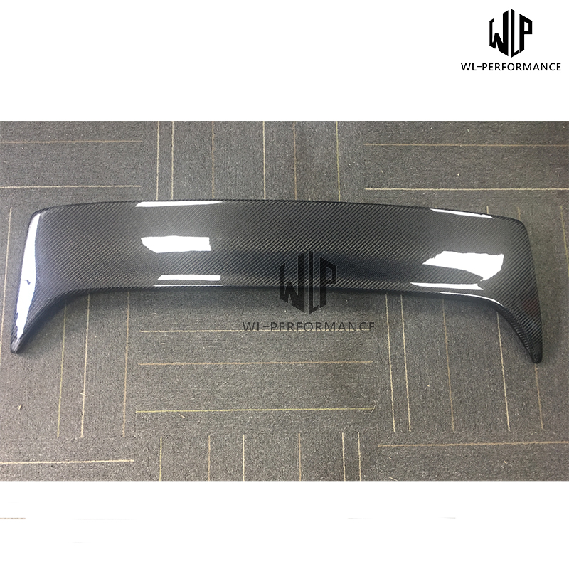 E70 High Quality FRP Unpainted / Carbon Fiber Materials Rear Spoiler Top Wing Car Styling For BMW E70 X5 Car Body Kit image