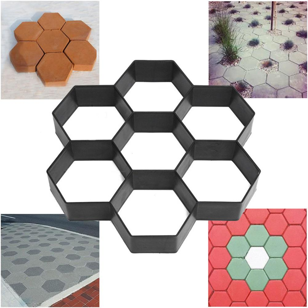 Garden DIY Plastic Paths Maker Pavement Model Concrete Stepping Stone Cement Paving Mould Brick Best Price
