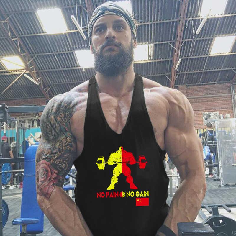 العلامة التجارية الجمنازيوم الملابس كمال الاجسام سترينجر تانك الأعلى للرجال القطن فارغة أكمام Singlets اللياقة البدنية رجل Tanktop العضلات سترة