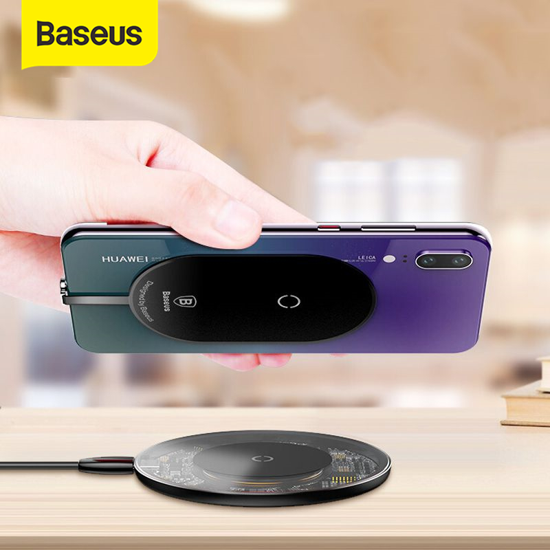 Baseus QI Wireless Charger Receiver For Huawei P20 Pro Samsung a5 7 Wireless Charging Receiver For X