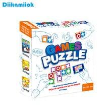 Hot Kids Space logiczne myślenie gra planszowa Puzzle do układania rodzinne gry imprezowe dla dzieci interaktywne uczenie się zabawek edukacyjnych
