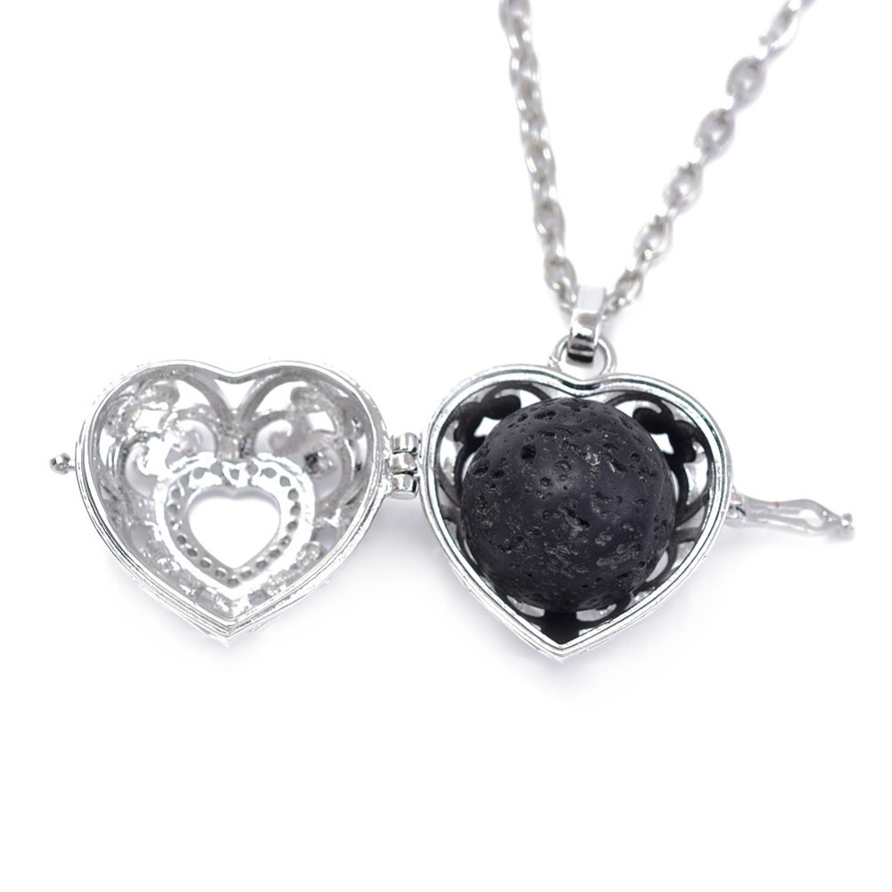 10 հատ 18 մմ սև լավայի բշտիկներ Բնական - Նորաձև զարդեր - Լուսանկար 2