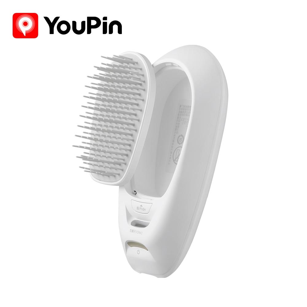 Youpinポータブルヘアブラシ電気櫛マイナスイオンusb充電式頭皮マッサージ帯電防止wellskins