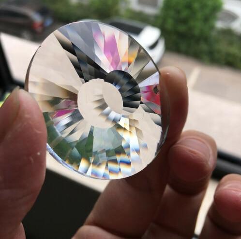 10 шт. круглый граненый 45 мм прозрачный кристалл крест Призма солнцезащитный стеклянный кулон люстра