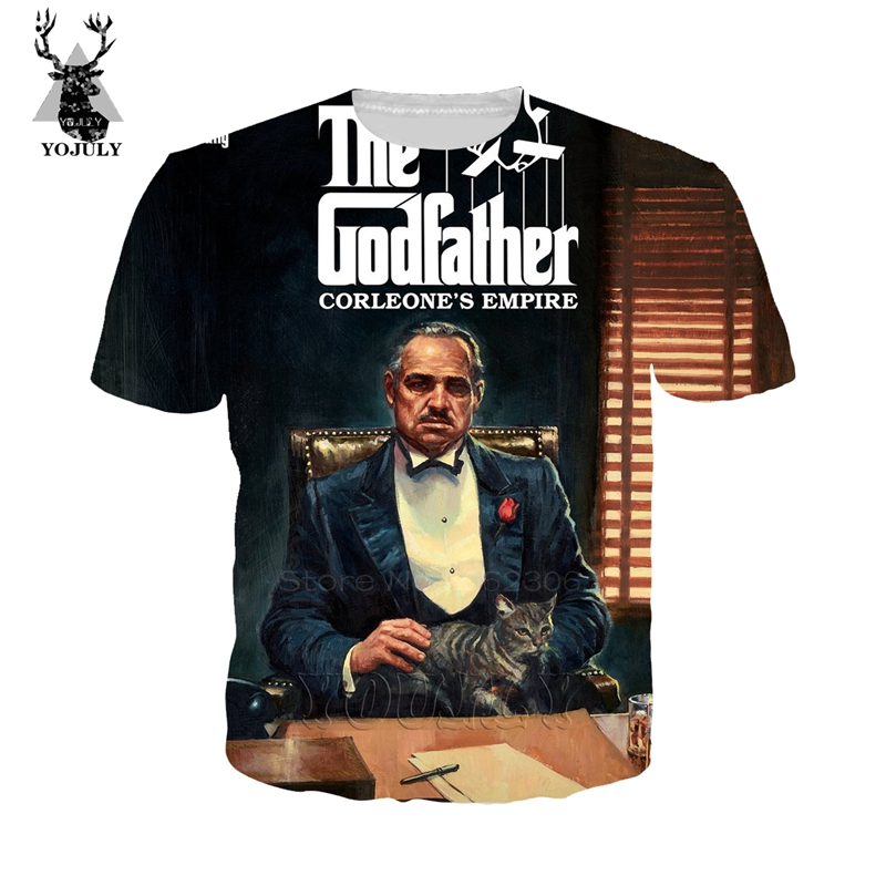 Film Godfather T Shirt Fashion Funny Men's Cosy T-shirts 3D Print Harajuku Tees Hip Hop O-neck Short Sleeve Streetwear Tops A502