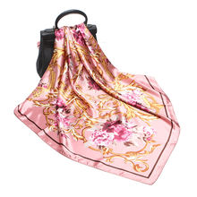 Весна 2020 Женский атласный шелковый шарф 90*90 см стандартная