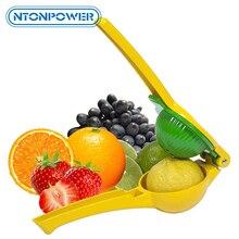 NTONPOWER Manuelle Zitrone Clip Premium Qualität Metall Lemon Lime Squeezer Manuelle Zitrus Presse Entsafter Manuelle Handpresse Orange Entsafter