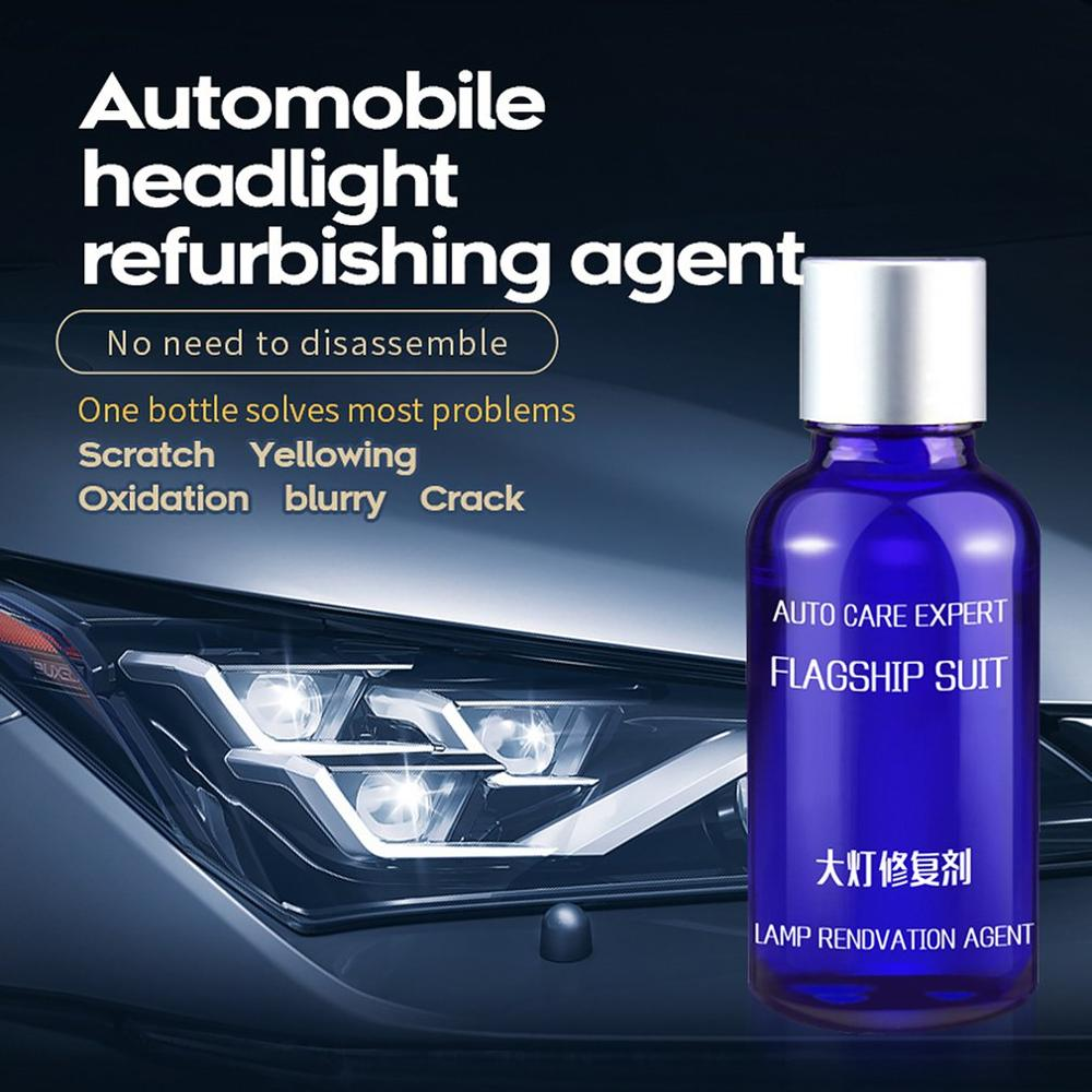 <font><b>Car</b></font> Headlight Renovation Repair Kit Repair Spray Polishing Coat Repair <font><b>Car</b></font> UV <font><b>Lights</b></font> Polishing Tool Headlight Cleaning image