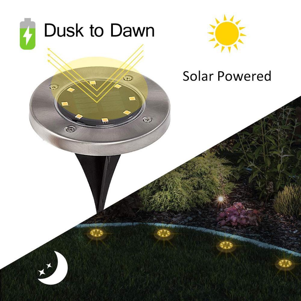 4PCS Solar Buried Lamp Led Solar Light Outdoor Lampara Solar Power Ground Light Home Yard Pathway Driveway Lawn Garden Led Lamp
