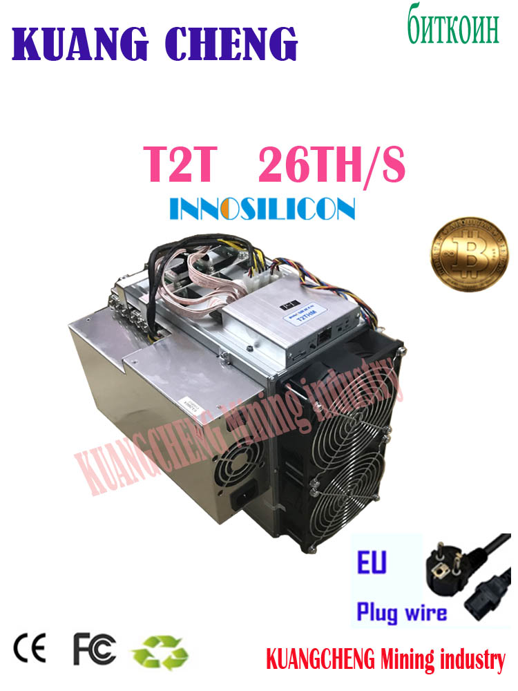 USED BTC BCH Miner Asic Bitcoin Miner Innosilicon T2T 26TH/S With PSU Better Than Antminer S9 S11 S17 T17 WhatsMiner M3 M3x M10