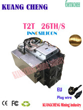 used old BTC Miner INNOSILICON Turbo  T2T  26TH/s Bitcoin Miner SHA256 With PSU Better Than Antminer S9 S11 S15 S17 T9+ T15 T1