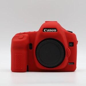 Image 4 - LimitX Silicone armure peau étui corps protecteur pour Canon EOS 5D Mark II 5D2 DSLR corps appareil photo seulement