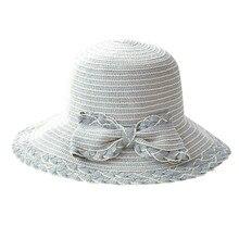 Весенние модные пляжные шляпы для женщин с широкими полями, складная Солнцезащитная шляпа с бантом, соломенные спортивные летние кепки, Прямая поставка# Zer