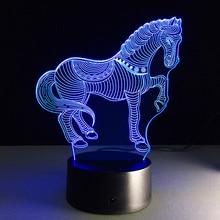 Lamp Base 3D Gift Modern Light Base Lamp Holder 7 Colors LED DC 5V Home Display Indoor Lighting Fixture Decoration Ornament
