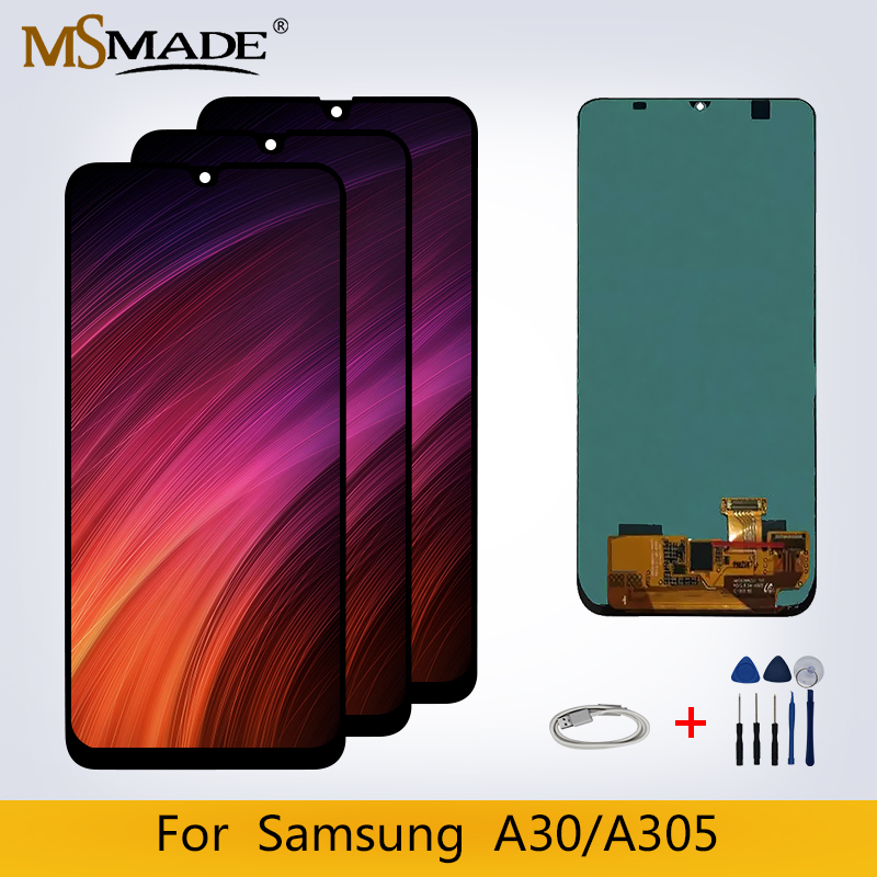 Original For <font><b>Samsung</b></font> <font><b>Galaxy</b></font> <font><b>A30</b></font> <font><b>LCD</b></font> Display Touch Sreen Digitizer Replacement Parts For A305/DS A305FD A305A Display <font><b>LCD</b></font> image
