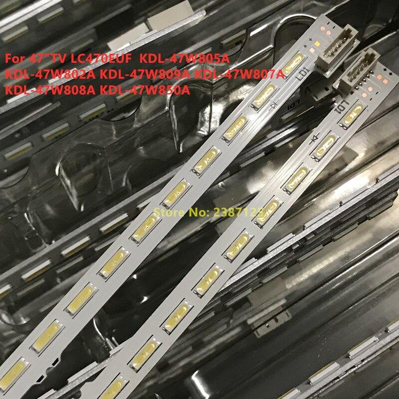 2 pièces Pour LG LED BANDE de RÉTRO-ÉCLAIRAGE 676mm KDL-47W805A KDL-47W802A Kdl-47W809 KDL-47W807A LC470EUF F LC470EUF-FFP2 LC470EUF-(FF) (P2)