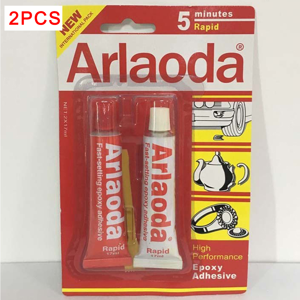 2pcs/set 2 Minutes Curing Super Liquid Araldite 5 Minutes Metal Adhesive Stationery AB Epoxy AB Glue High Quality