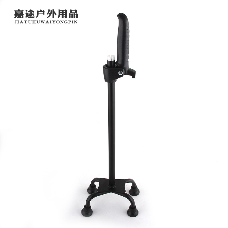 360 ° Rotating Wand Four Corners Anti-slip Elderly People Rod 10 Speed Adjustable Damping Elderly People Rod