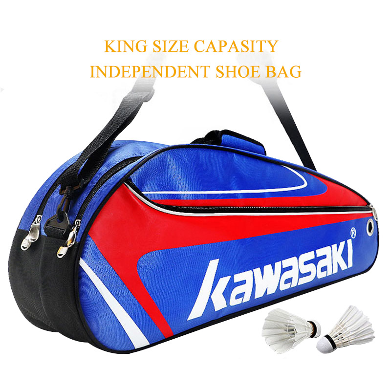 Racket Badminton Bag Waterproof Single Shoulder Squash Racquet Team Sports Bags Can Hold 3 Rackets With Shoe Bag Men