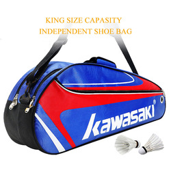 Racket Badminton Bag Waterproof Single Shoulder Squash Racquet Team Sports Bags Can Hold 3 Rackets With Shoe Bag Men