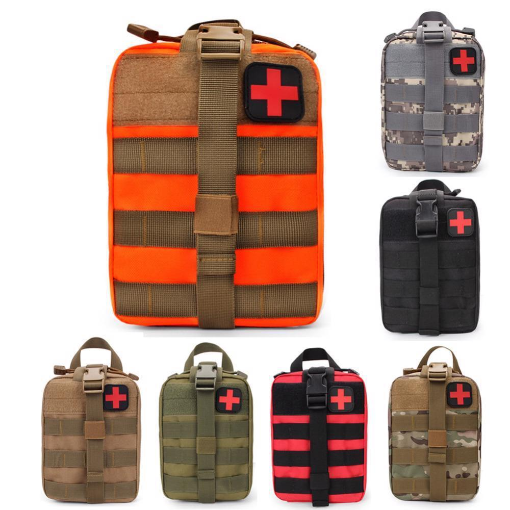 Wild Survival Emergency Kit Military Tactical MOLLE Battlefield Medical Bag Rescue Pack For Vest Waist Pouch Tactical Medical