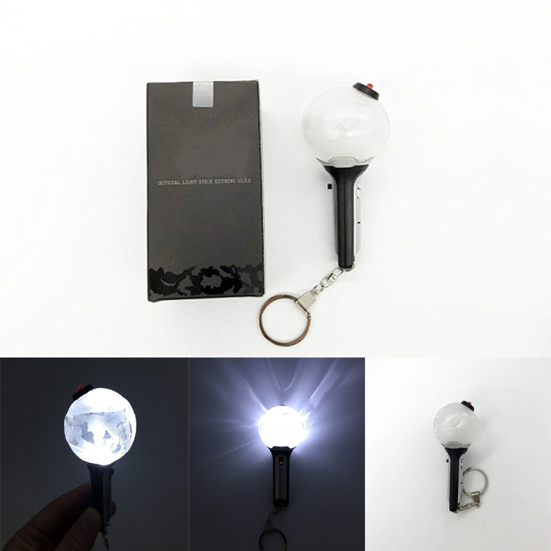 Kpop Bangtan Boys Mini Lightstick Ver1 2 Mini Light Stick Key Chain K-pop Bangtan Boys Lamp Keychain Pendant Keyring