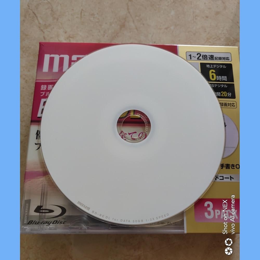 Free Shipping BD-RE DL 50GB Blue-ray Disc Rewritable BDRE 50g Bluray  Printable 1-2X  3pcs/lot
