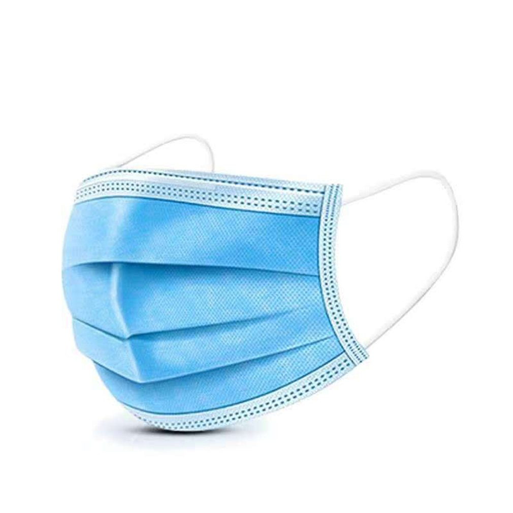 50Pcs Non-Woven Fabric Disposable Mouth Masks Adult Anti Haze Mask Anti-Dust Mouth Masks Windproof Mouth Face Masks