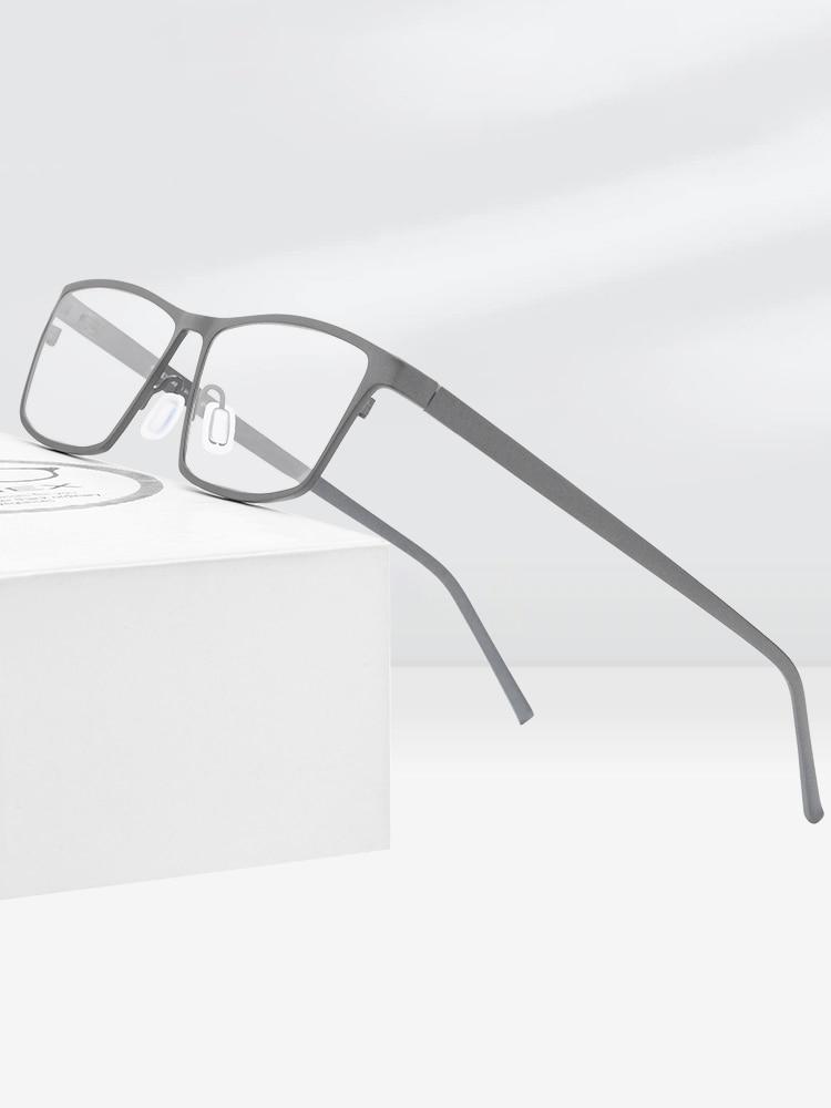 FONEX Eye-Glasses Eyewear Titanium-Glasses-Frame Myopia Prescription Pure Men for Square
