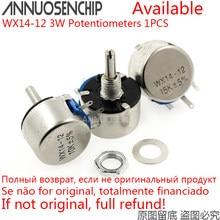 WX14-12 3W Lap Potenciômetros Wirewound 100 220 470 Europa 22 20 10 1K K K K 56R 100R 220R 470R 2.2K 3.3K 4.7K 2K2 3K3 4K7 WX14 12