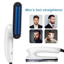 Multifunctional Beard Straightener Hair For Men Comb Professional Brush Hair Straightening Comb Hair Curler Quick Hair Styler